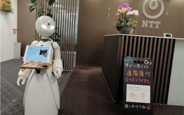 受付業務を行う分身ロボット