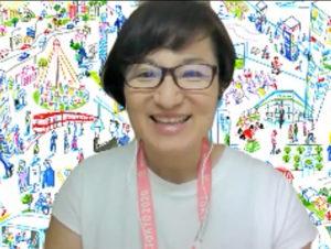 オンラインでインタビューに応える香山さん